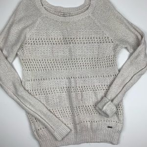 Abercrombie & Fitch Cream Open Knit Sweater M